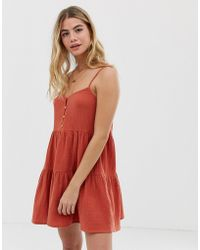 Rhythm - Camille Cotton Beach Sundress In Ginger - Lyst