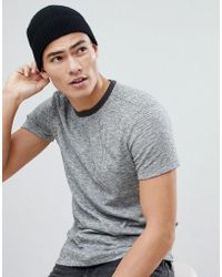 ASOS - Cashmere Fisherman Beanie In Black - Lyst