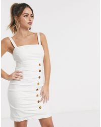 Finders Keepers Effy Buttondown Mini Dress - White