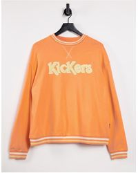 Kickers Relaxed Sweatshirt With Embroidery Logo - Pink
