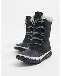 Sorel Черные Высокие Водонепроницаемые Ботинки Out N About-черный