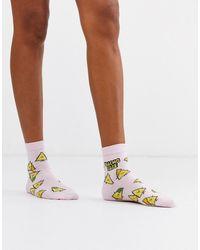ASOS Nacho Babe Ankle Socks - Pink
