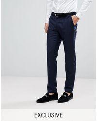 Heart & Dagger DB - Pantaloni da abito skinny - Blu