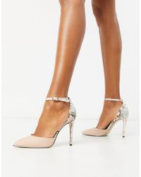 Call It Spring By Aldo Iconis Heeled Pumps With Ankle Strap - Pink