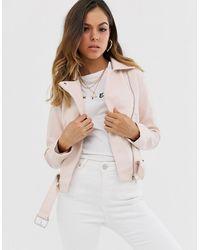 New Look Светло-розовая Байкерская Куртка Из Искусственной Кожи - Многоцветный
