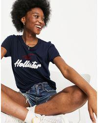 Hollister Logo T Shirt - Blue