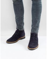 New Look - Faux Suede Desert Boots In Navy - Lyst