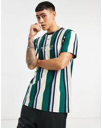 Mennace Club - T-shirt à rayures verticales - Multicolore