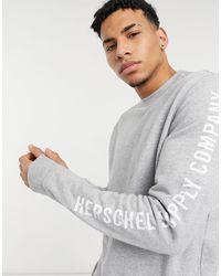 Herschel Supply Co. Arm Print Crew Neck Sweatshirt - Grey