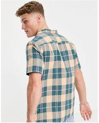 Farah Рубашка В Клетку С Отложным Воротником И Короткими Рукавами Cavett-зеленый Цвет