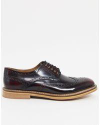 TOPMAN Zapatos Oxford rojos - Marrón