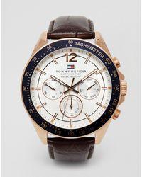 Tommy Hilfiger Часы С Кожаным Ремешком Luke 1791118-коричневый