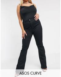 ASOS Asos Design Curve Sculpt Me Bell Flare Jeans - Black