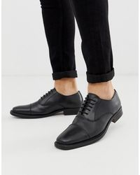 Redfoot Leather Chunky Sole Shoe - Black