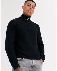 Produkt Organic Half Zip Knitwear - Black