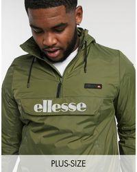 Ellesse - Зеленая Куртка Без Застежки Со Светоотражающим Логотипом Plus Ion-зеленый - Lyst