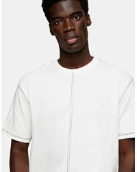 TOPMAN Contrast Stitch T-shirt - White