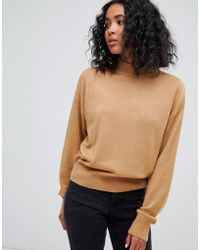 ASOS - Eco Jumper In Loose Fit With Turtle Neck And Balloon Sleeve - Lyst