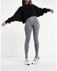ASOS Leggings en gris jaspeado con costuras en contraste