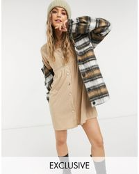 Reclaimed (vintage) Inspired Mini Smock Dress - Natural