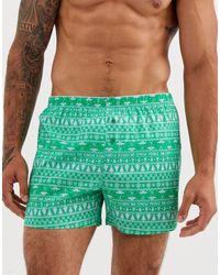 ASOS – Weihnachten – Web-Boxershorts - Grün