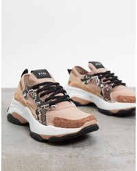 Steve Madden Ajax - Baskets chunky - Or rose - Multicolore