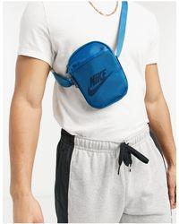 Nike Бирюзовая Сумка-кошелек На Пояс Heritage-голубой - Синий