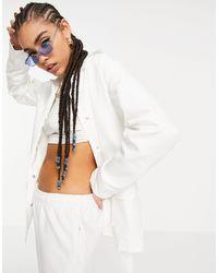Threadbare Belted Blazer - White
