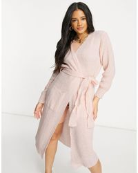 I Saw It First Knitted Longline Belted Cardigan - Pink