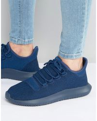 11098cf4b adidas Originals - Tubular Shadow Knit Sneakers In Blue Bb8825 - Lyst