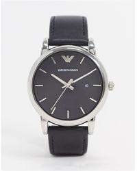 Emporio Armani Часы С Кожаным Ремешком Ar1692-черный