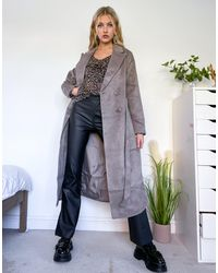 New Look Belted Formal Coat - Multicolour