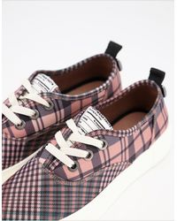 Call It Spring By Aldo Faux Leather Flatform Trainers - Pink