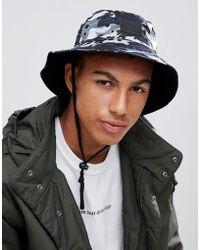 bc6d687f Lyst - ASOS Safari Bucket Hat In Leopard Print in Black for Men