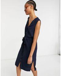 Y.A.S - Melia Sleeveless Tie Waist Midi Dress - Lyst