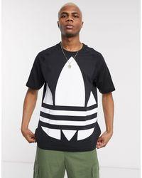 adidas Originals Черная Футболка С Логотипом-трилистником -черный