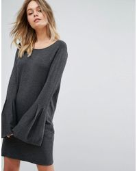 Vero Moda - Bell Sleeve Knitted Jumper Dress - Lyst