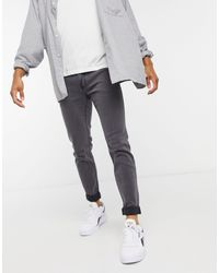 Hollister Jeans super skinny linea pulita grigi - Grigio