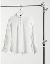 New Look - Белая Классическая Рубашка На Пуговицах -кремовый - Lyst
