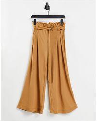 Vero Moda - Светло-коричневые Брюки-кюлоты -коричневый Цвет - Lyst