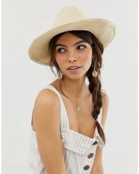 ASOS - Straw Fedora Hat With Size Adjuster - Lyst