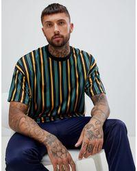 ASOS Oversized Bright Vertical Stripe T-shirt - Multicolour
