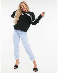 Calvin Klein Черный Джемпер С Логотипом И Круглым Вырезом