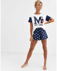 Women'secret Mickey Mouse Short Pyjama - Blue