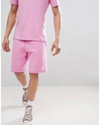 Converse - Essentials Cut-off Shorts In Pink 10003347-a09 - Lyst