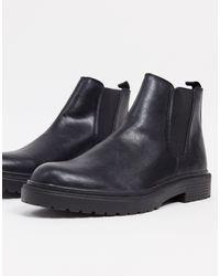 TOPMAN - Черные Массивные Ботинки-челси -черный - Lyst