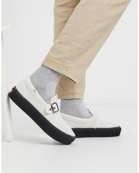 Vans Style - 47 - Baskets style creepers - Marshmallow/noir - Blanc