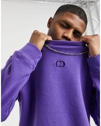 Criminal Damage Eco Essentials Sweatshirt - Purple
