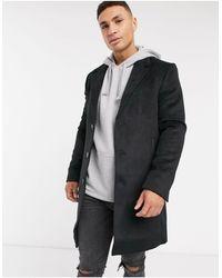 River Island Overcoat - Black