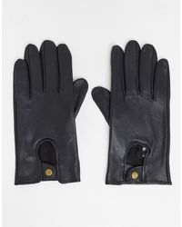 ASOS Leather Driving Gloves - Black